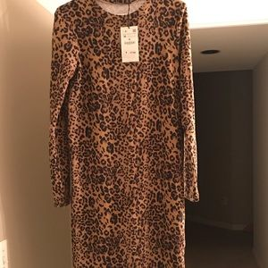 NWT Zara animal print dress M